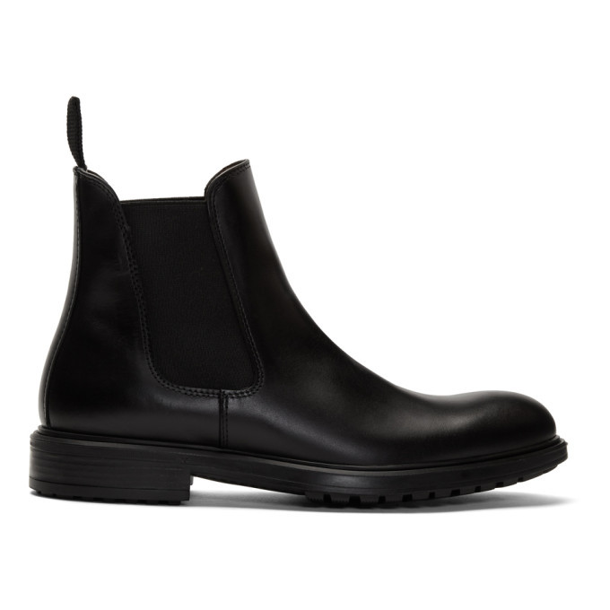 Photo: Officine Generale Black Calfskin Chelsea Boots