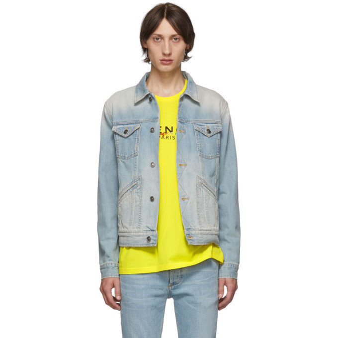 Photo: Givenchy Blue Denim Logo Jacket