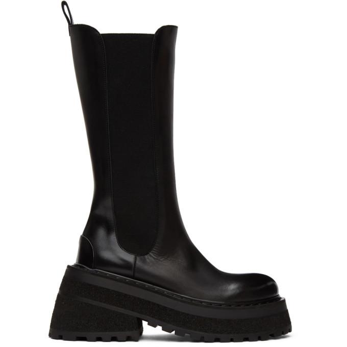 Photo: Marsell Black Carretta Tall Chelsea Boots