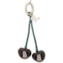 Raf Simons Black and Green Double Cherry Charm Keychain