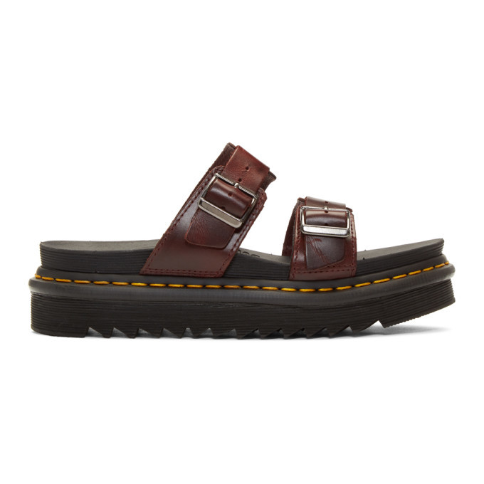 Photo: Dr. Martens Burgundy Myles Sandals