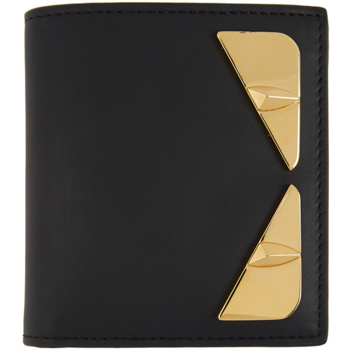 Photo: Fendi Black and Gold Bag Bugs Wallet