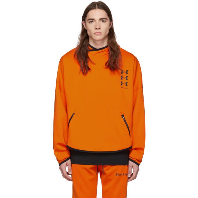 Photo: Palm Angels Orange Under Armour Edition Loose Hoodie