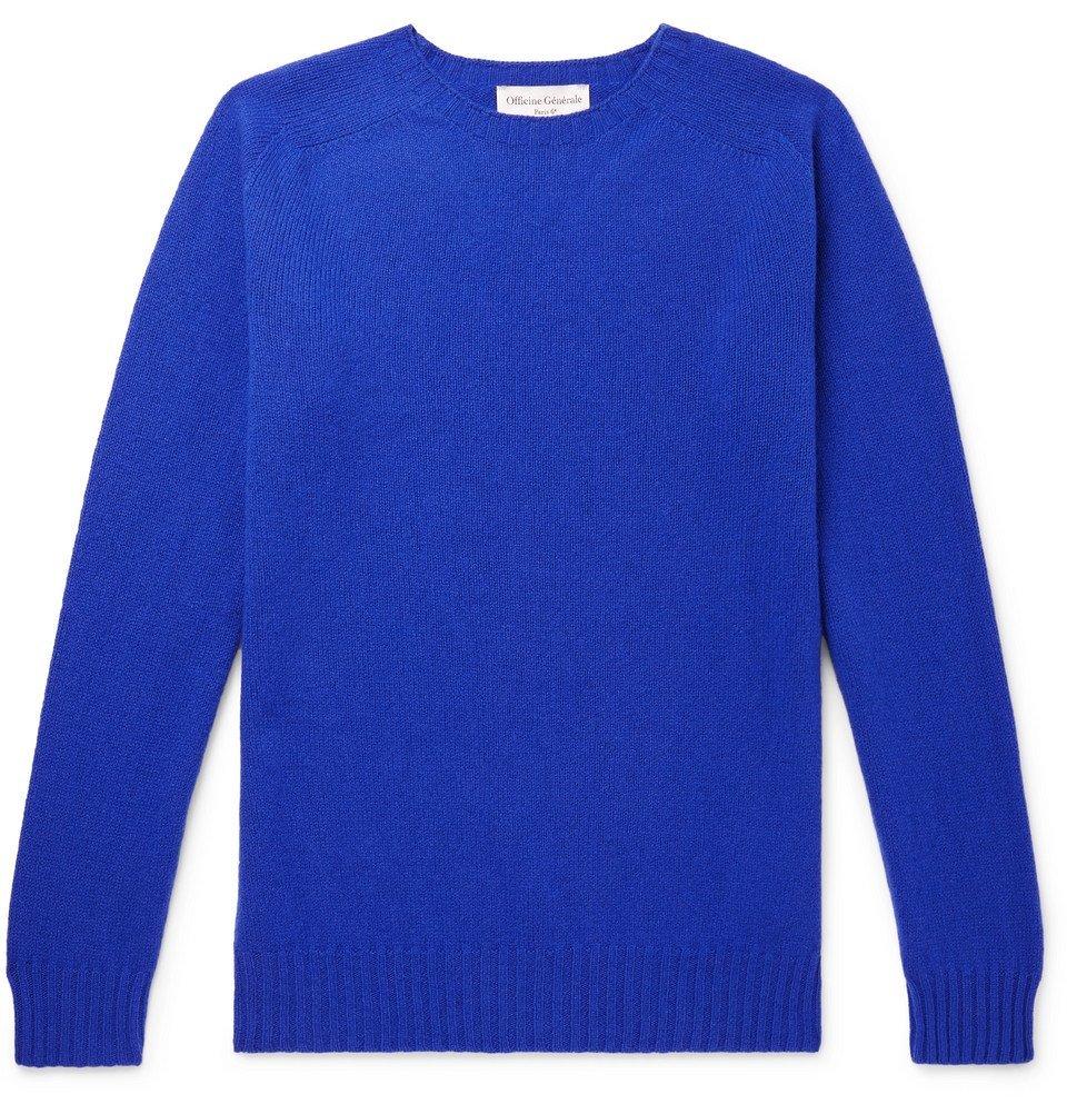 Photo: Officine Generale - Wool Sweater - Blue