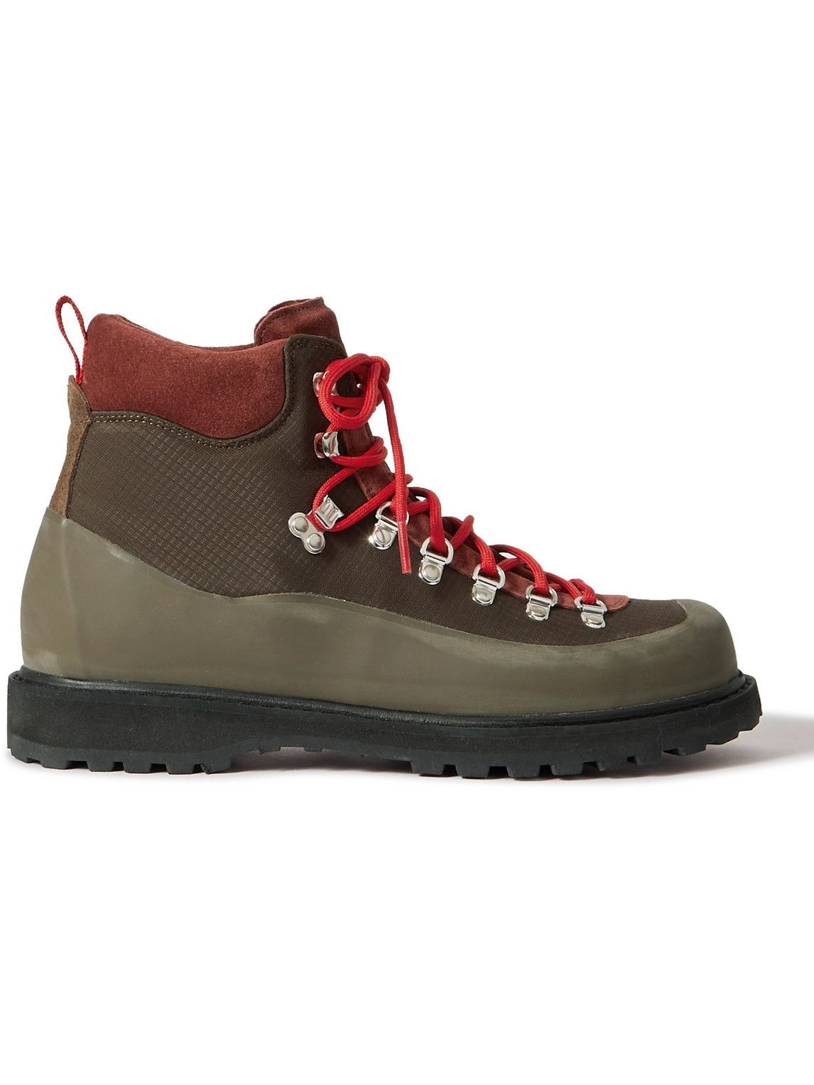 Photo: Diemme - Roccia Vet Rubber-Trimmed Suede and Ripstop Boots - Brown