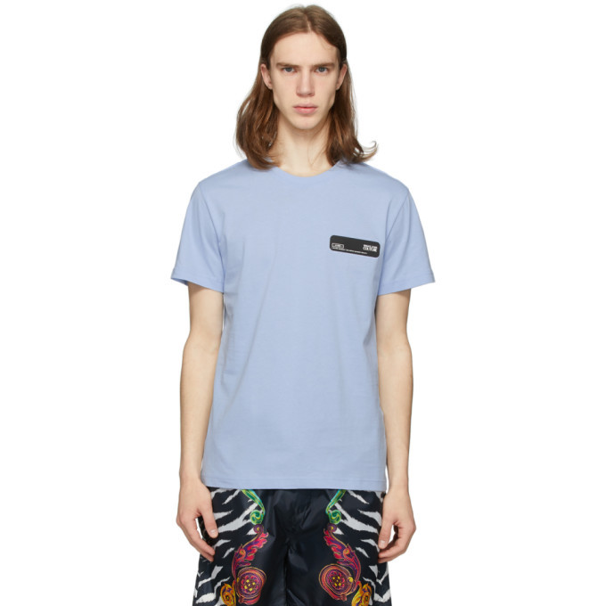 Versace Jeans Couture Blue Rubber Logo T-Shirt