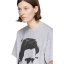 Raf Simons Grey Pierced Man Big Fit T-Shirt