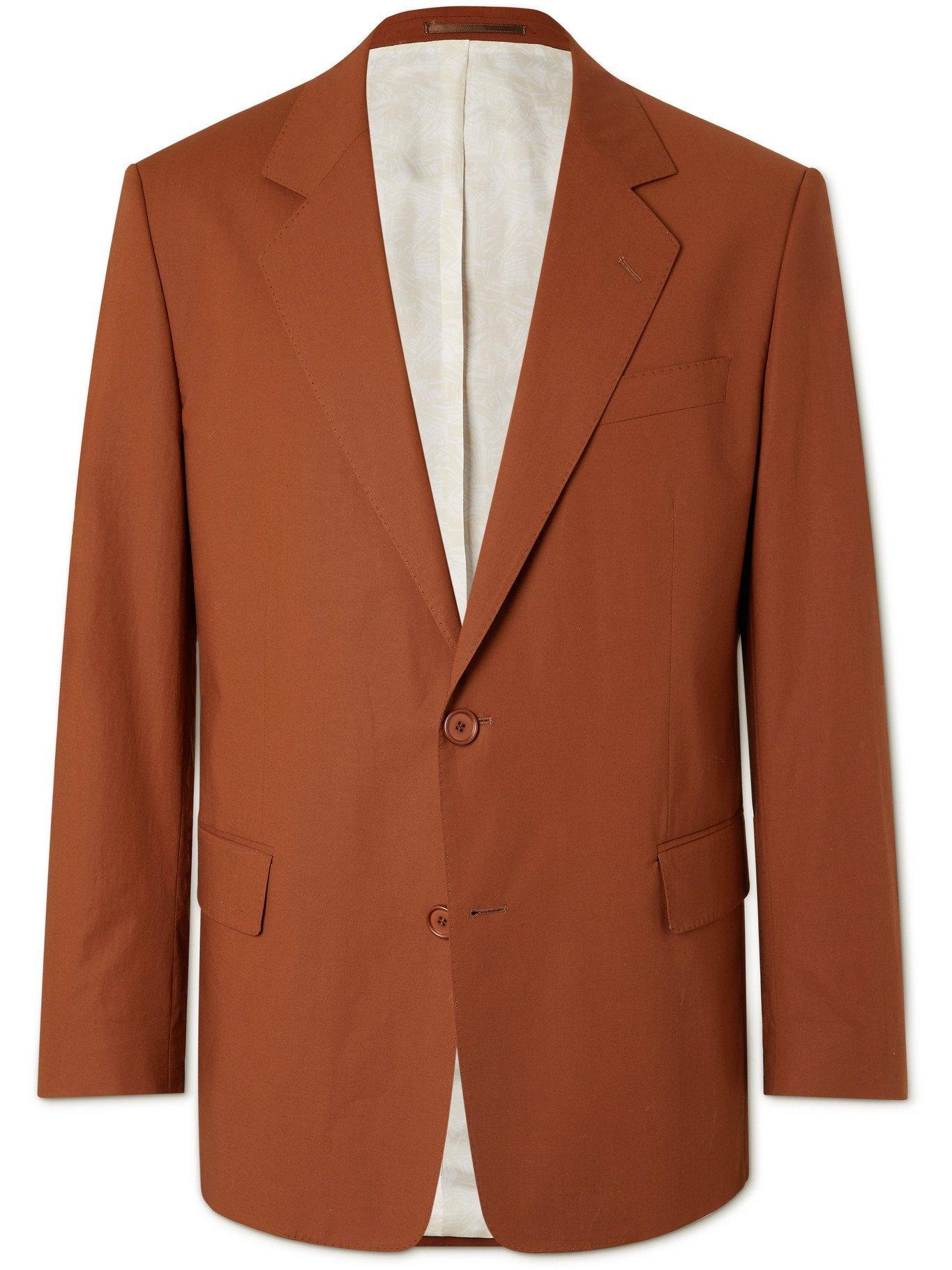 HUGO BOSS - Cemdon Stretch-Cotton Blazer - Brown