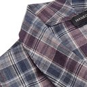 Hanro - Belted Checked Cotton Robe - Blue