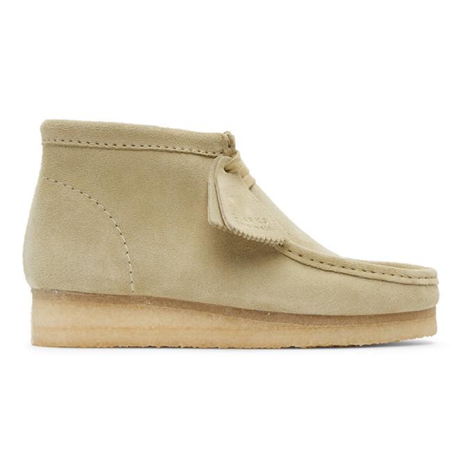 Photo: Clarks Originals Beige Suede Wallabee Desert Boots