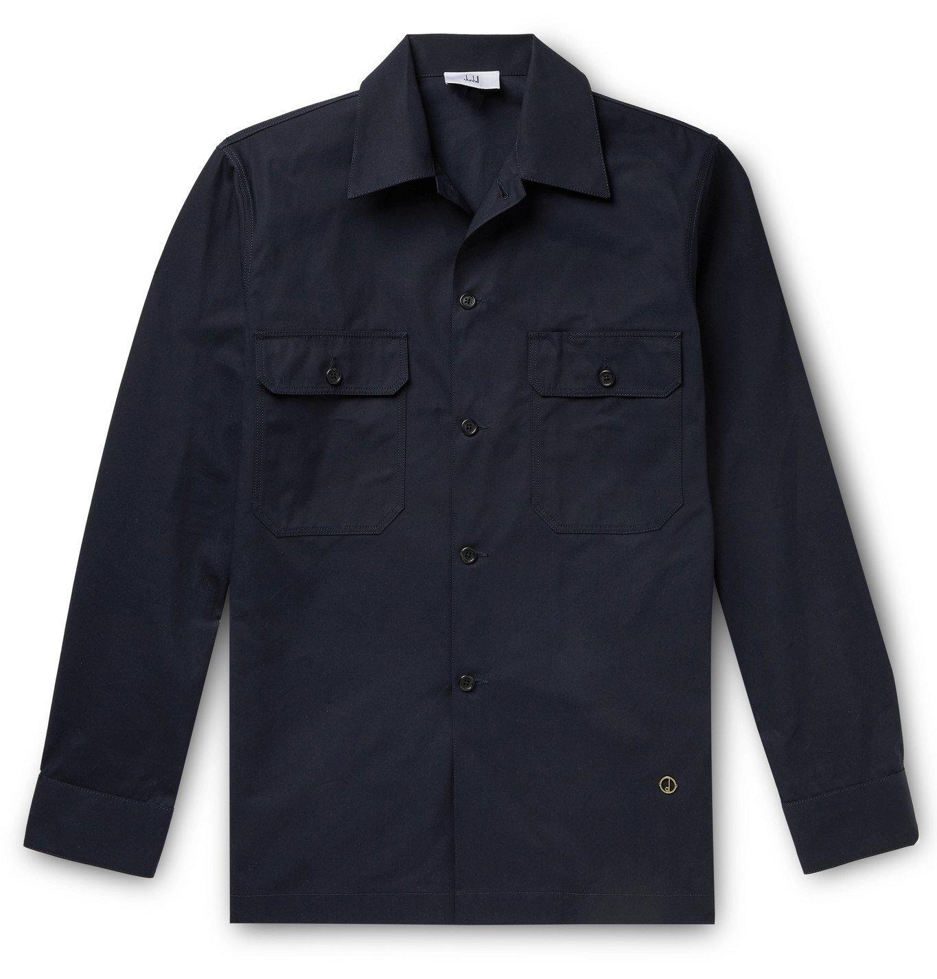 DUNHILL - Cotton-Twill Overshirt - Blue