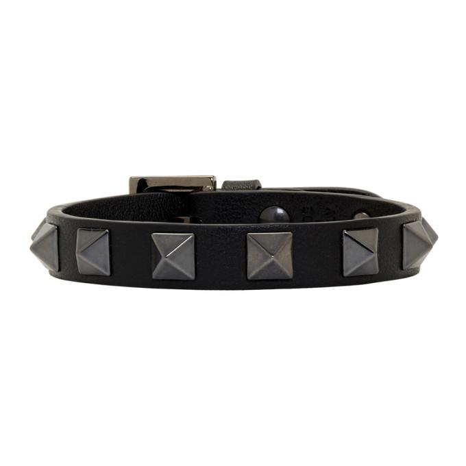 Photo: Valentino Black Valentino Garavani Rockstud Bracelet