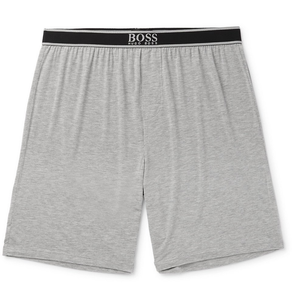 Photo: Hugo Boss - Stretch Modal-Blend Pyjama Shorts - Gray