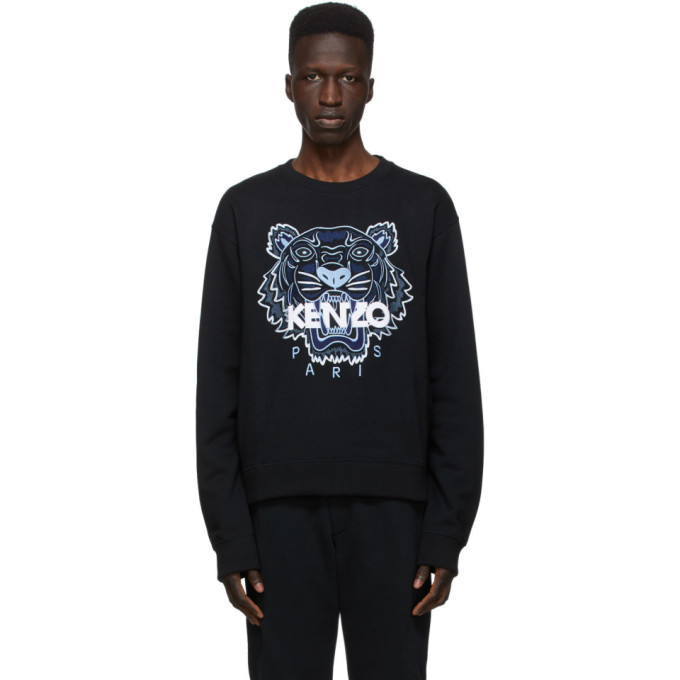 Photo: Kenzo Black Classic Tiger Sweatshirt