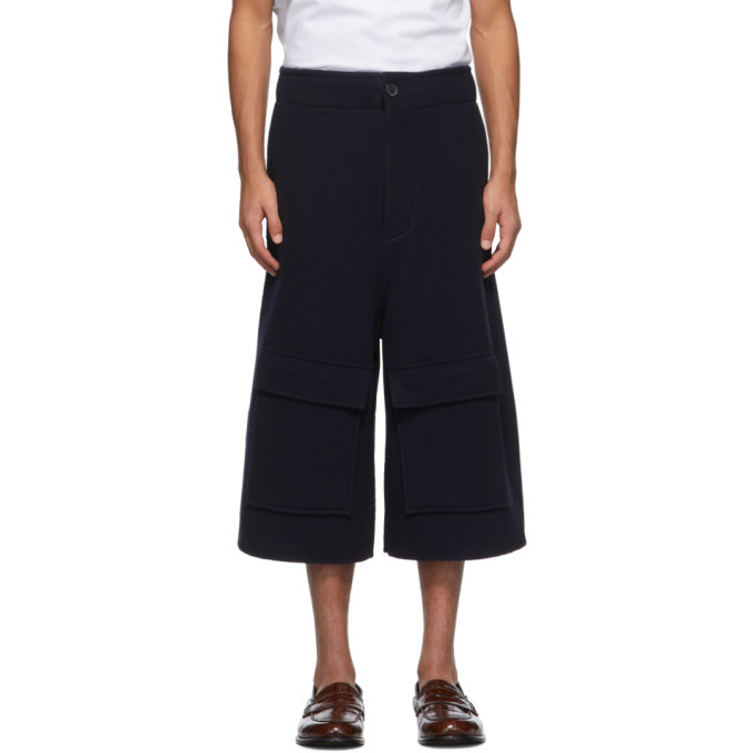 Photo: Loewe Navy Wool and Cashmere Shorts