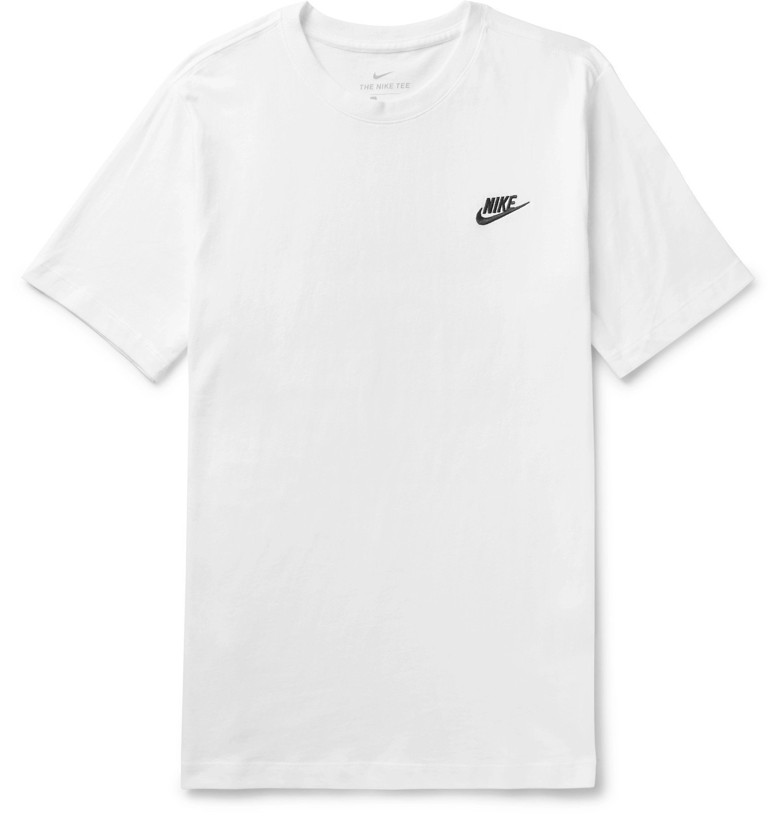Photo: Nike - Logo-Embroidered Cotton-Jersey T-Shirt - White