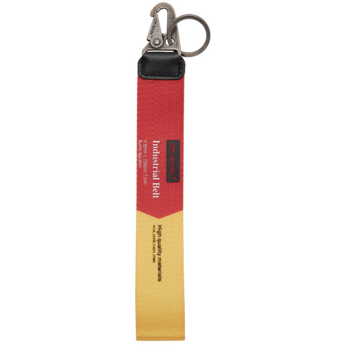 Photo: Off-White Red and Yellow 2.0 Industrial Keychain