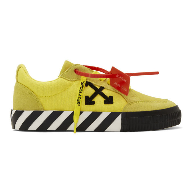 Photo: Off-White Yellow Vulcanized Low Sneakers