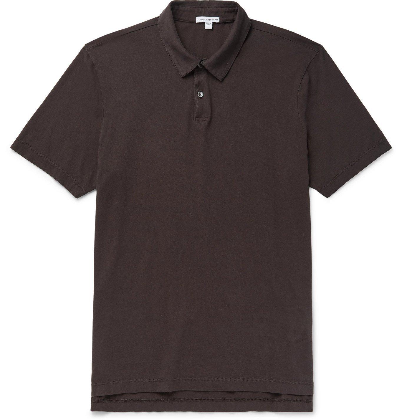 Photo: James Perse - Supima Cotton-Jersey Polo Shirt - Purple
