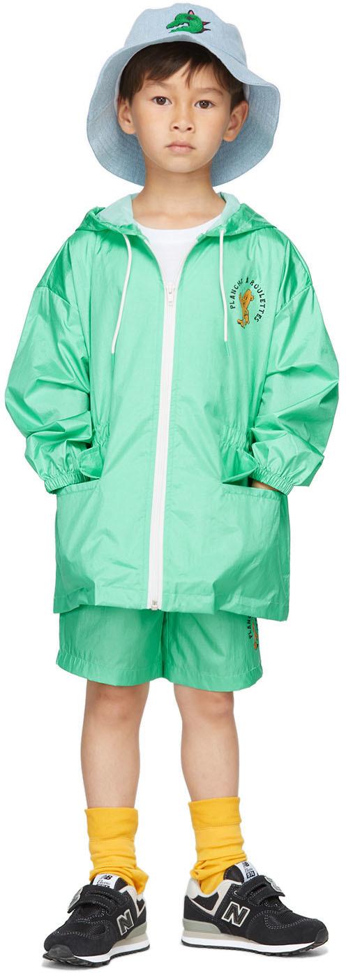 Photo: Jellymallow Kids Green Board Hoodie Rain Coat