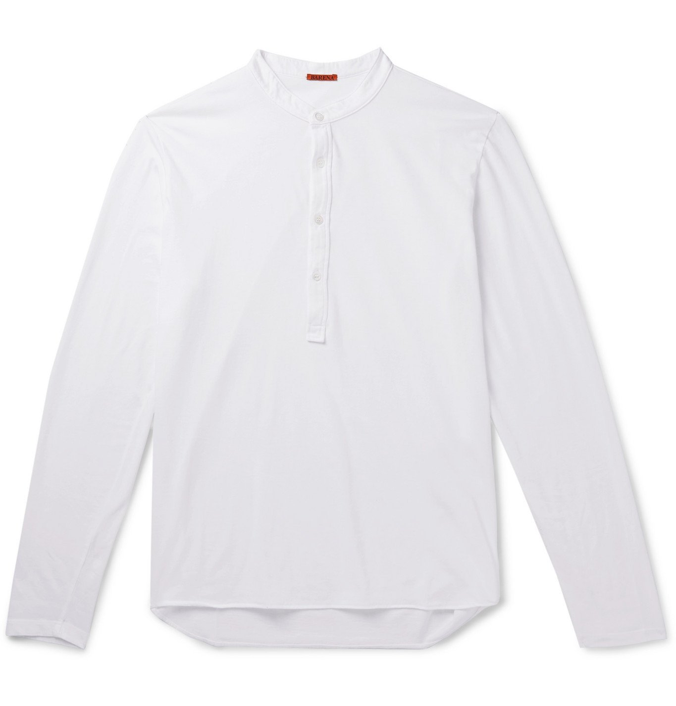 Photo: Barena - Cotton-Jersey Henley T-Shirt - White