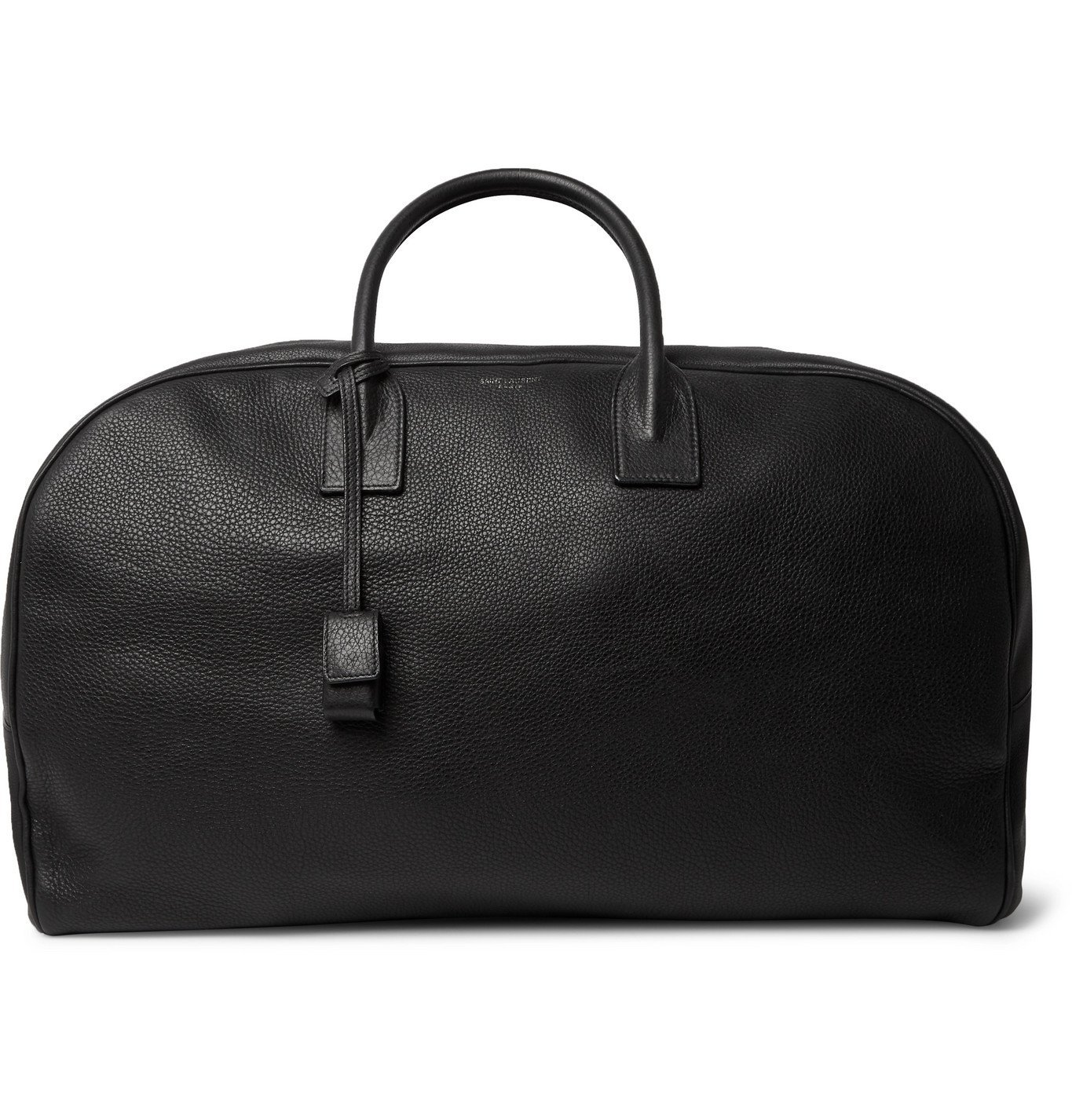 Photo: SAINT LAURENT - Full-Grain Leather Holdall - Black