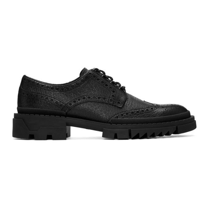 Photo: Versace Black Treaded Brogues