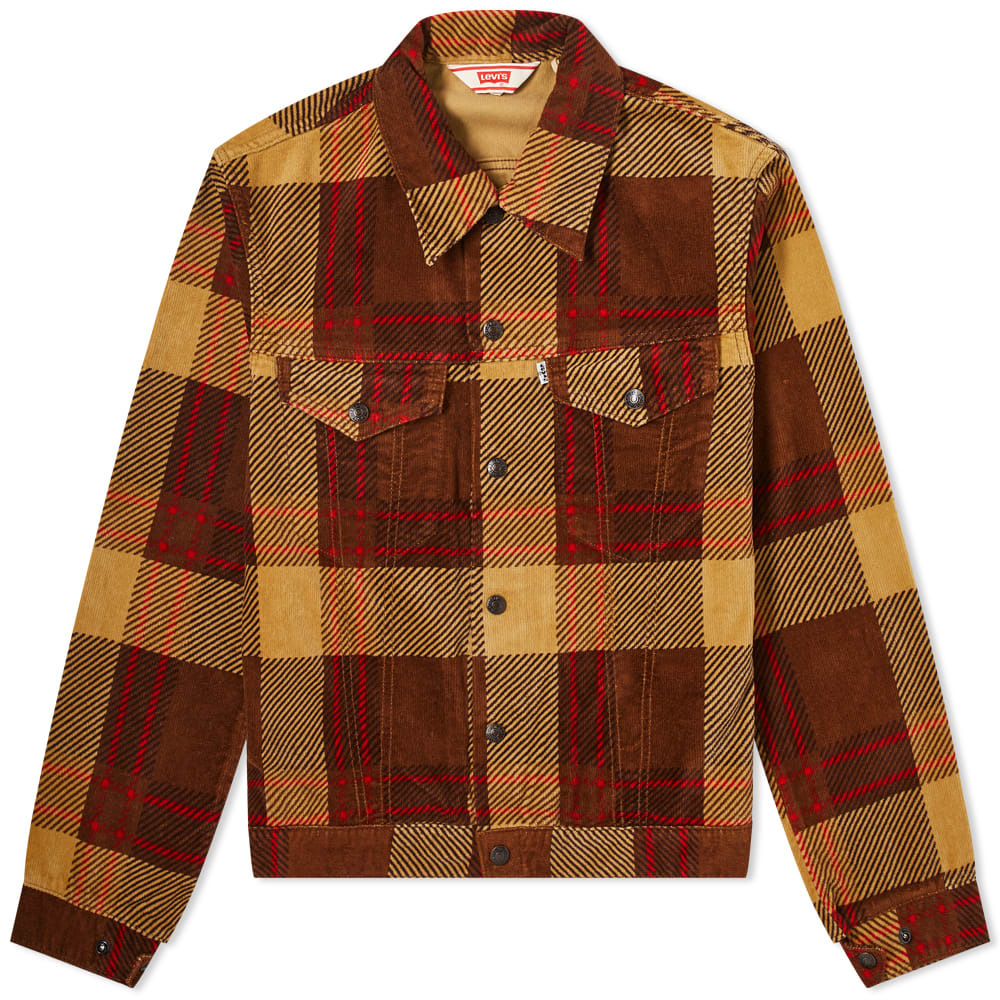 Photo: Levi's Vintage Clothing Checked Flannel Trucker Jacket