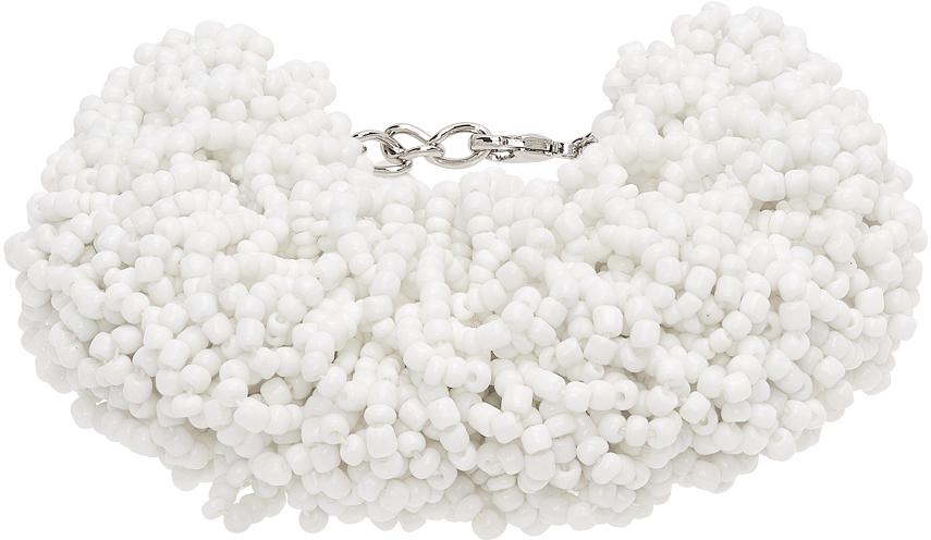 Photo: Dries Van Noten White Beaded Bracelet
