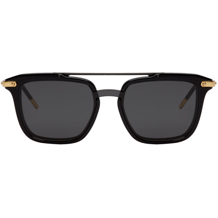 Photo: Dolce and Gabbana Black Rounded Square Sunglasses