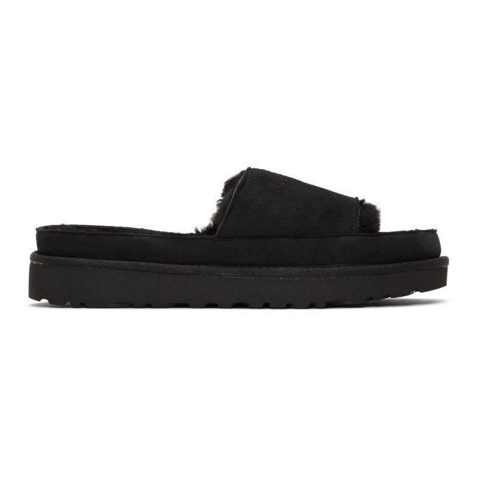 Photo: Y/Project Black Uggs Edition Shearling Slides