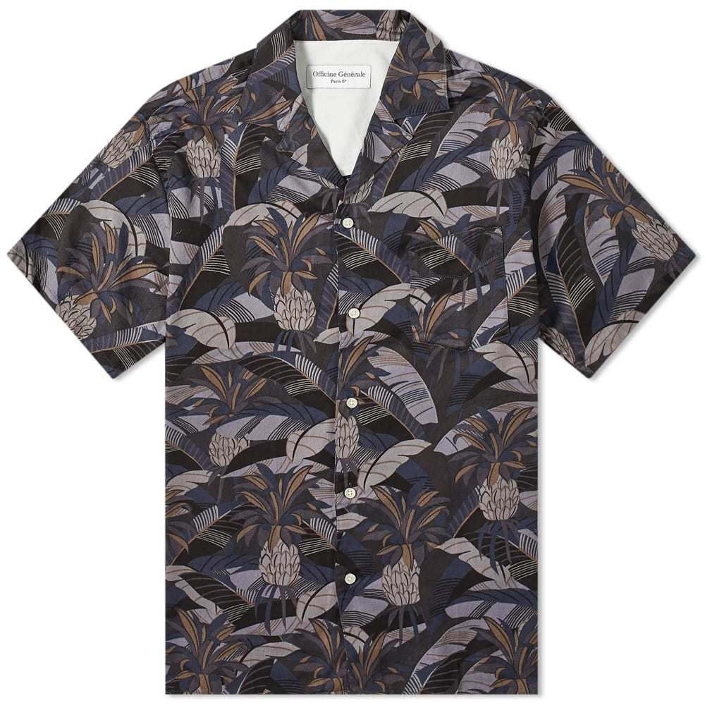 Photo: Officine Generale Dario Short Sleeve Tropical Print Shirt