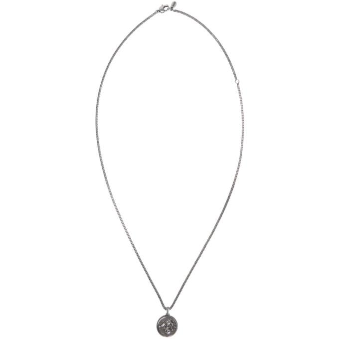 Photo: Alexander McQueen Silver Crow Medallion Necklace