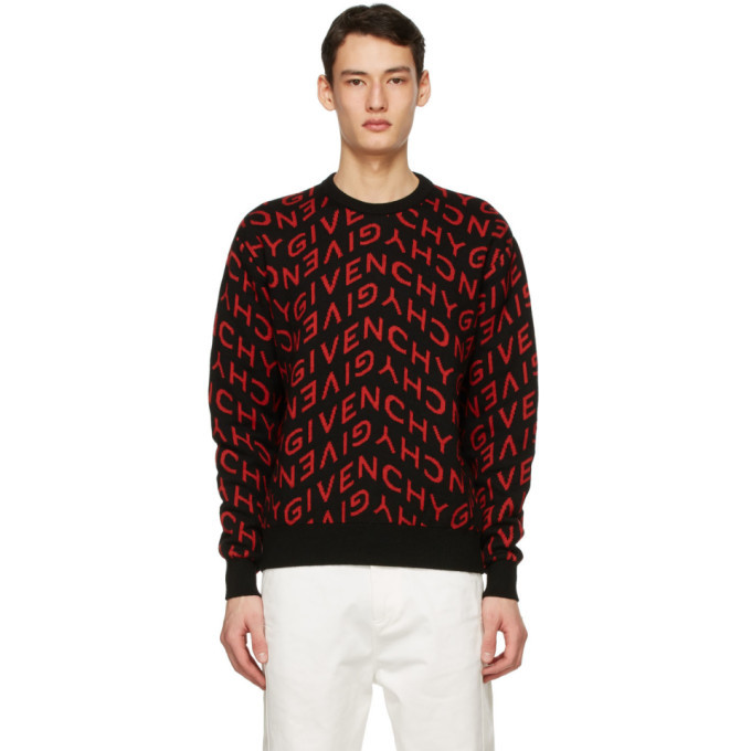 Photo: Givenchy Black and Red Refracted Sweater