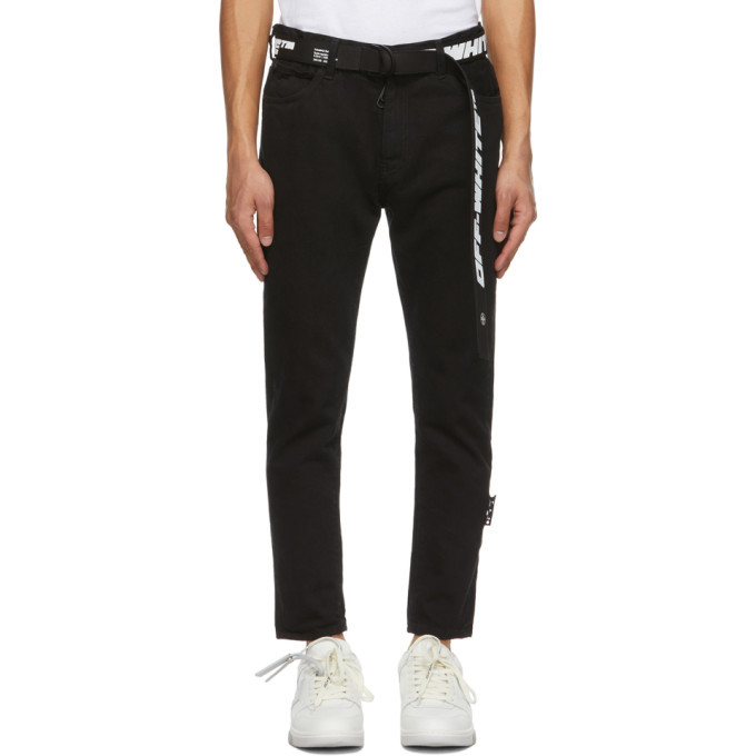 Photo: Off-White Black Slim Fit Belted Jeans
