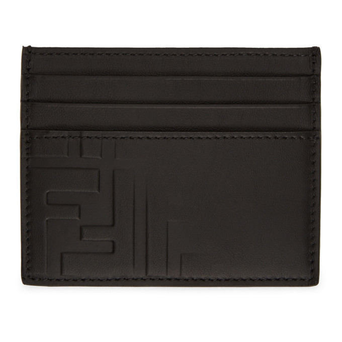 Photo: Fendi Black Forever Fendi Fade Card Holder