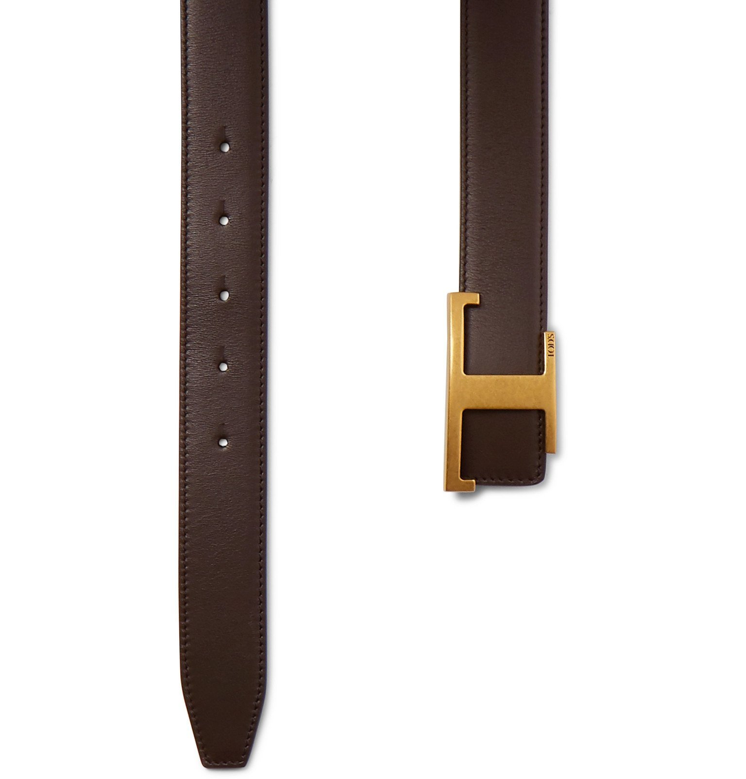 Tod's - 3cm Reversible Leather Belt - Brown