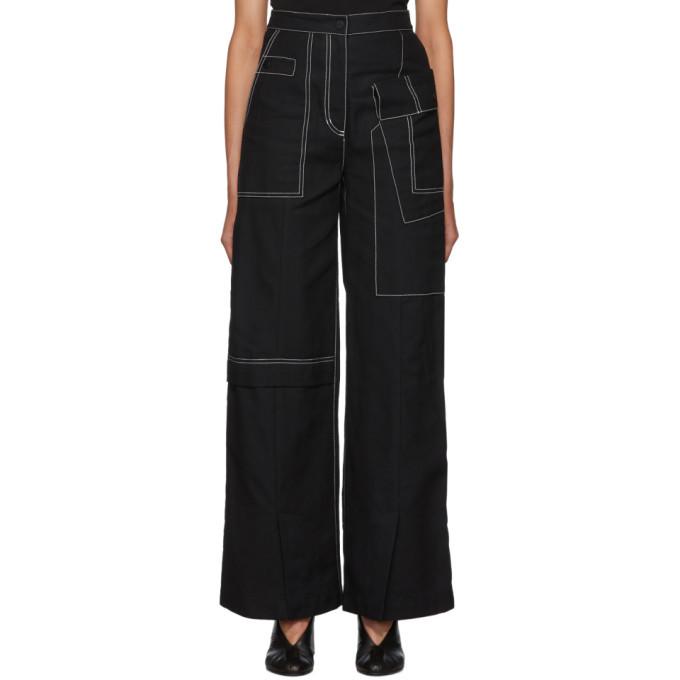 3.1 Phillip Lim Black Woolmark Wide Leg Jeans