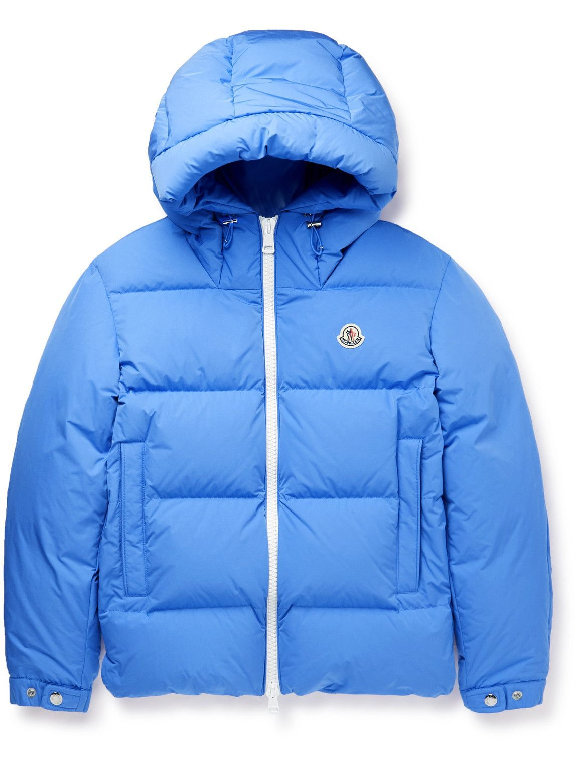 Photo: Moncler - Idil Quilted Shell Hooded Down Jacket - Blue
