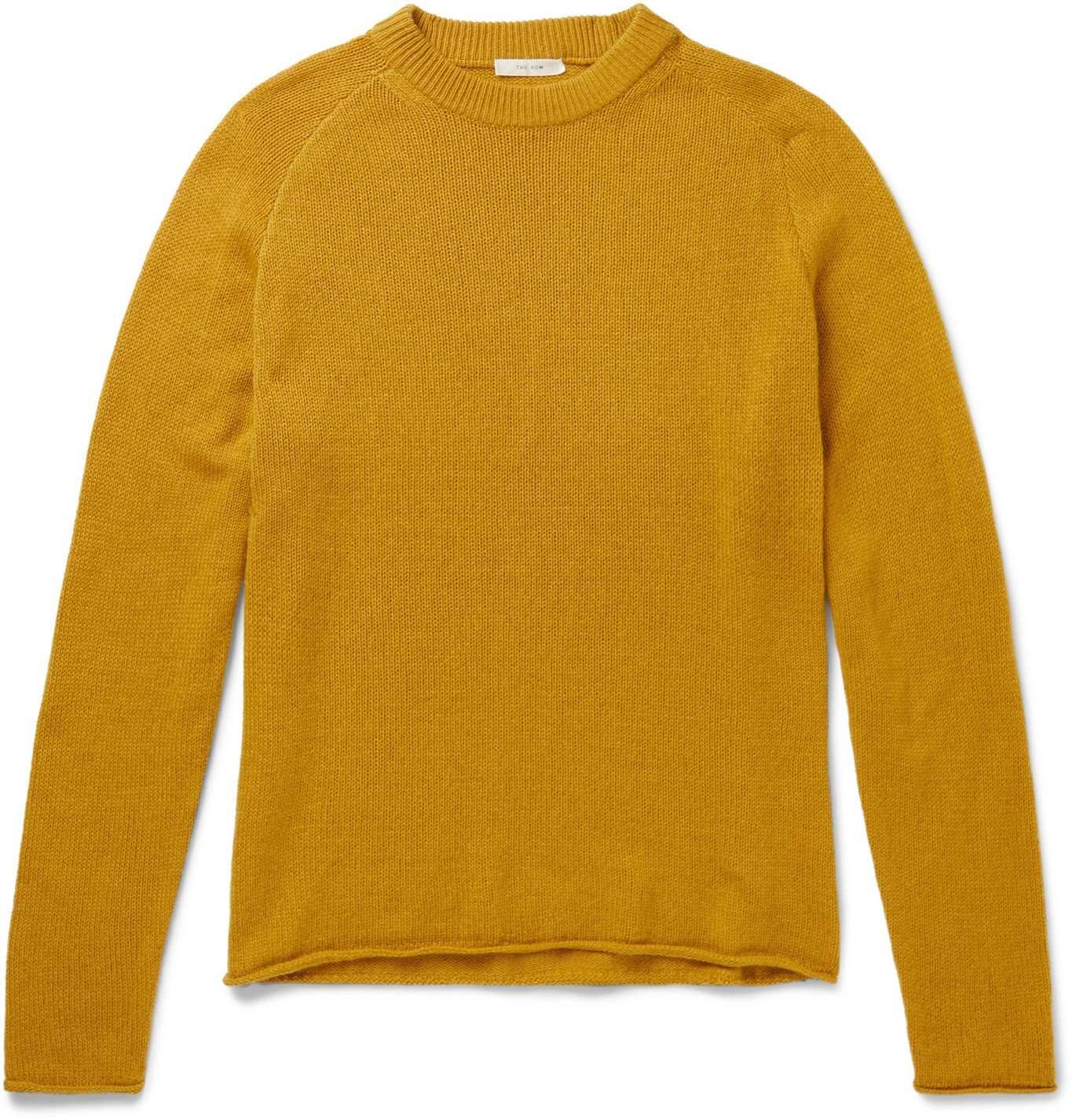 Photo: The Row - Ulmer Cashmere Sweater - Yellow