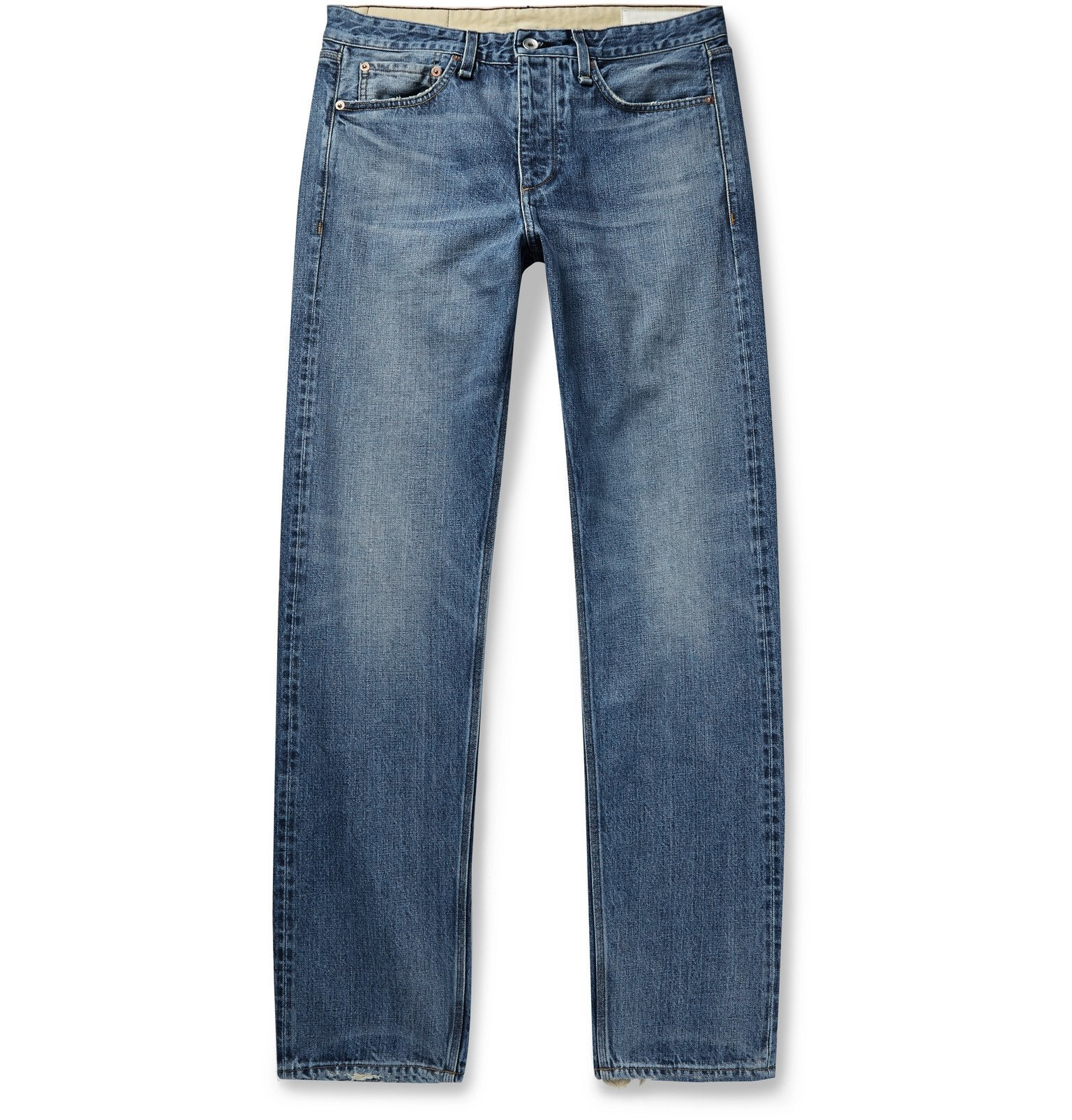 Photo: rag & bone - Fit 2 Slim-Fit Distressed Denim Jeans - Blue