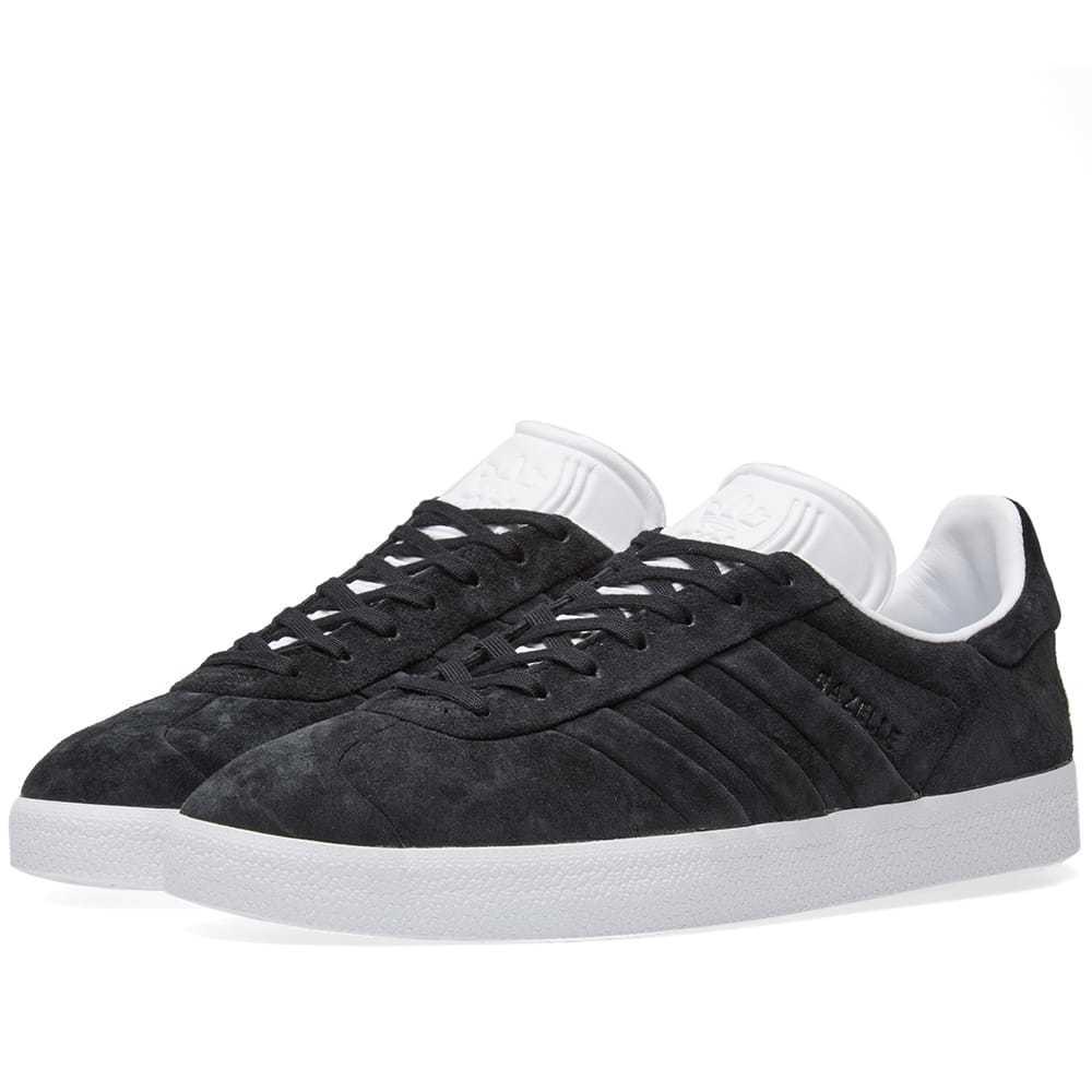 Adidas Gazelle Stitch \u0026 Turn Black Adidas
