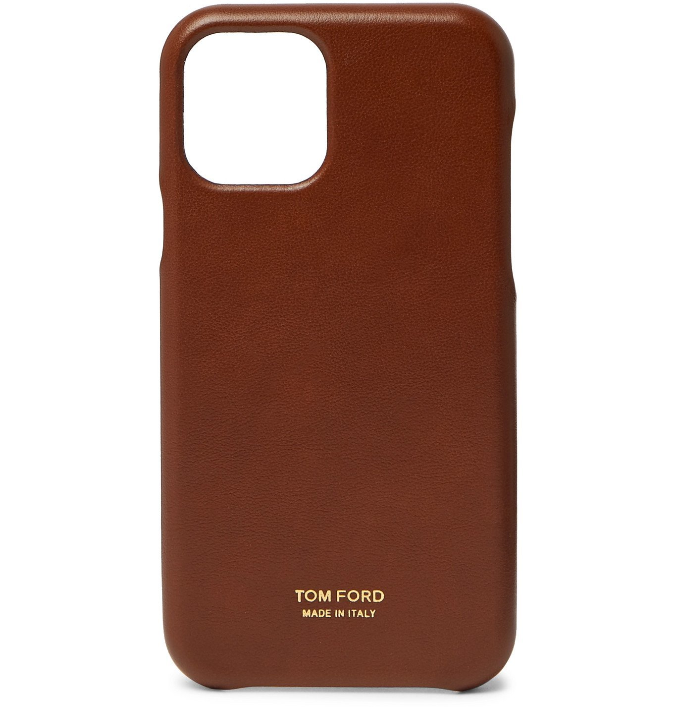 Photo: TOM FORD - Leather Phone Case with Lanyard - Brown