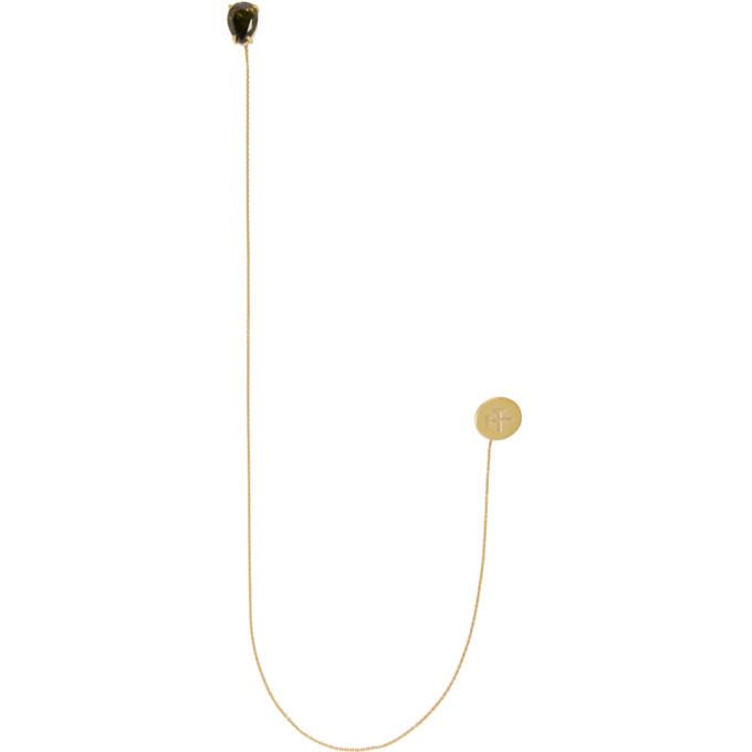 GmbH Gold Long Pin Stone Earrings