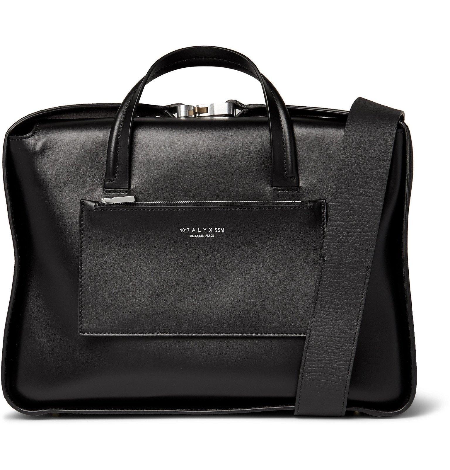 Photo: 1017 ALYX 9SM - Leather Messenger Bag - Black
