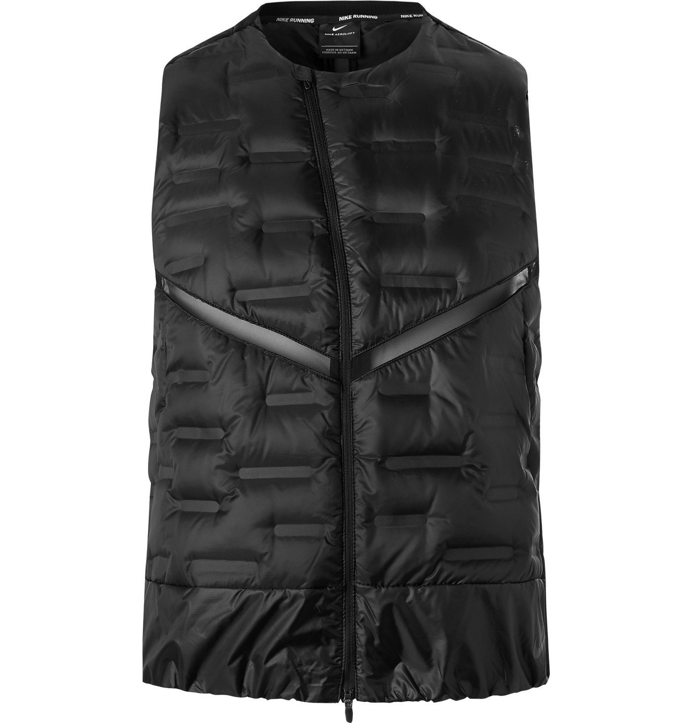 Nike Running - AeroLoft Mesh-Panelled Quilted Shell Gilet - Black