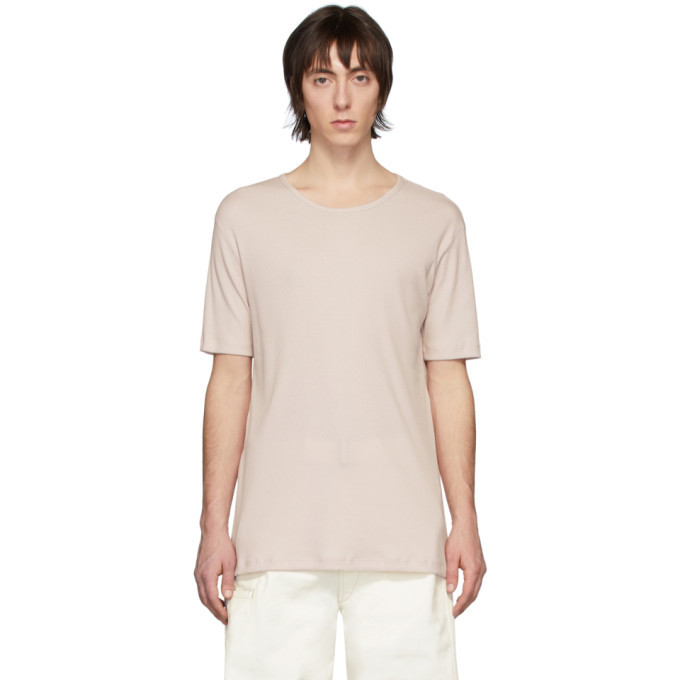 Photo: Lemaire Pink Rib Knit T-Shirt