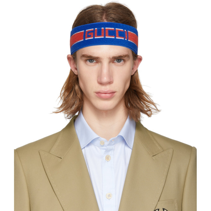 Photo: Gucci Blue Headband and Wristband Set