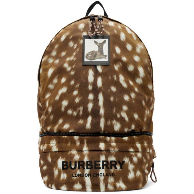 Photo: Burberry Brown Convertible Deer Print Backpack