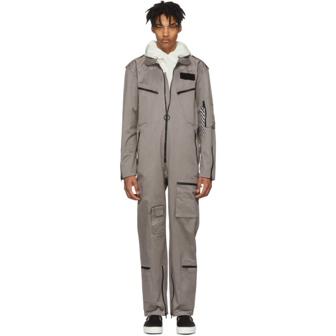 Photo: Off-White Grey Workwear Jumpsuit